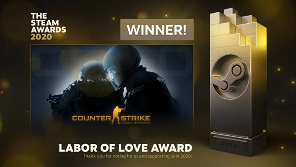 Steam年度游戏公布 CSGO荣获爱的付出奖项